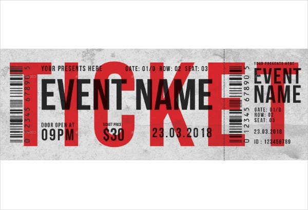Multipurpose Rustic Party Ticket Template