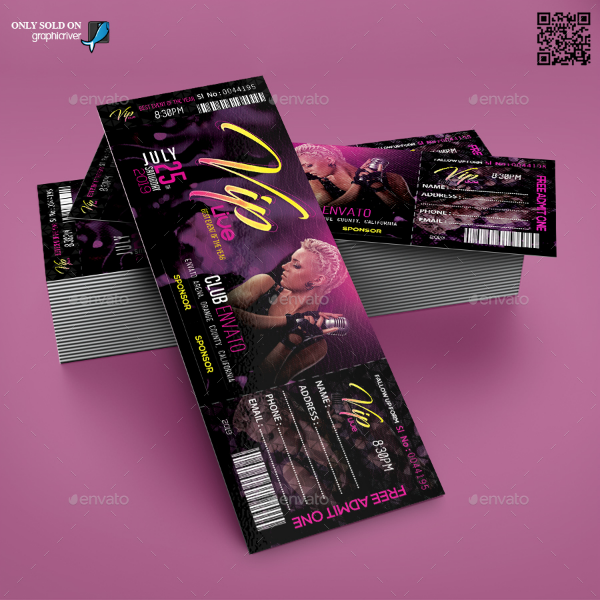 Music Event VIP Ticket Template