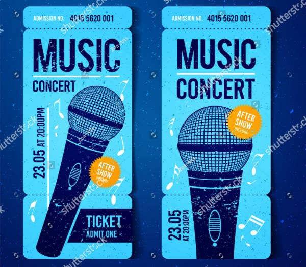 Musical Concert Ticket Sample