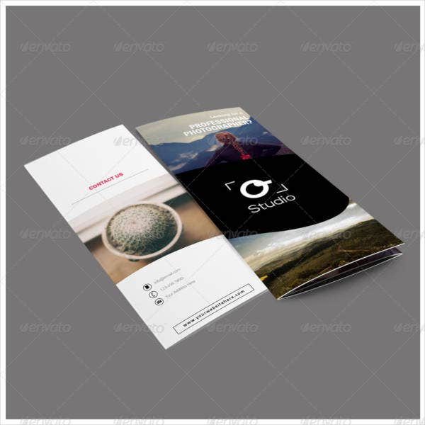 Photography Portfolio Tri-Fold Catalog Design