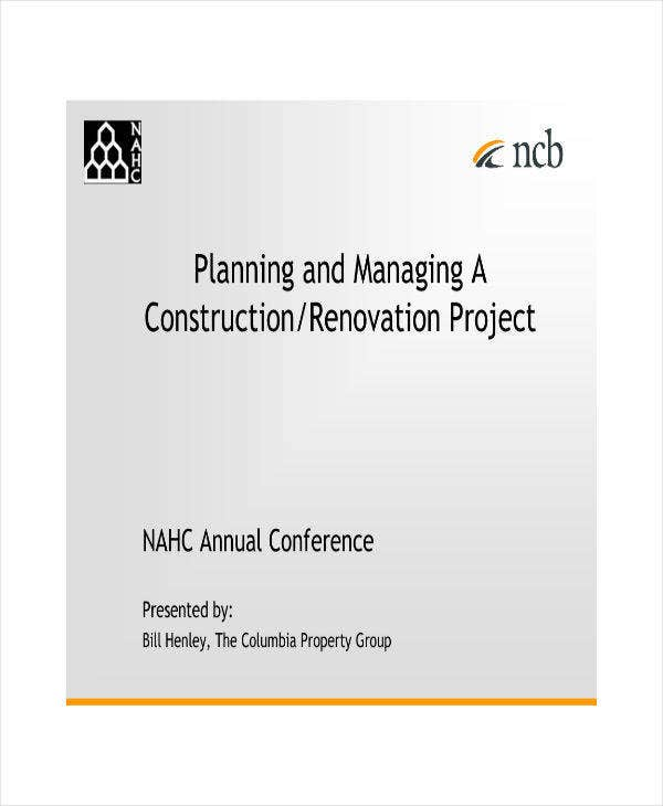 Planning and Managing a Renovation Project