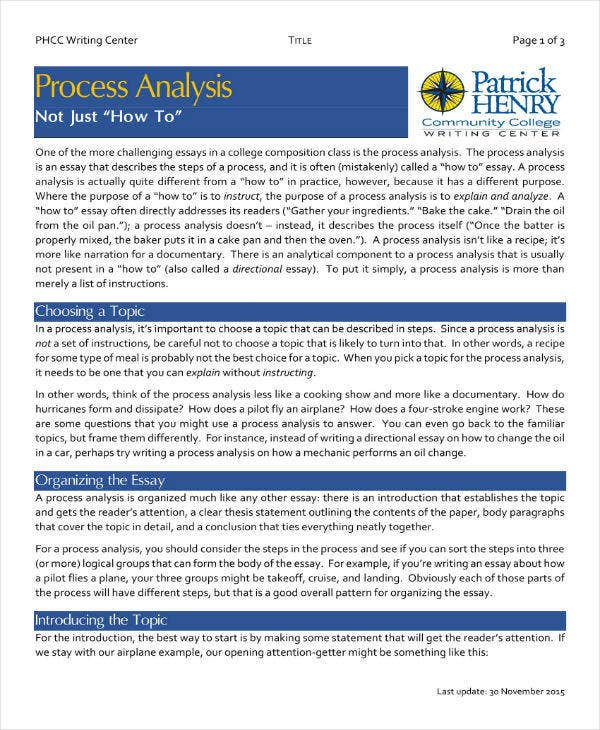 process analysis example