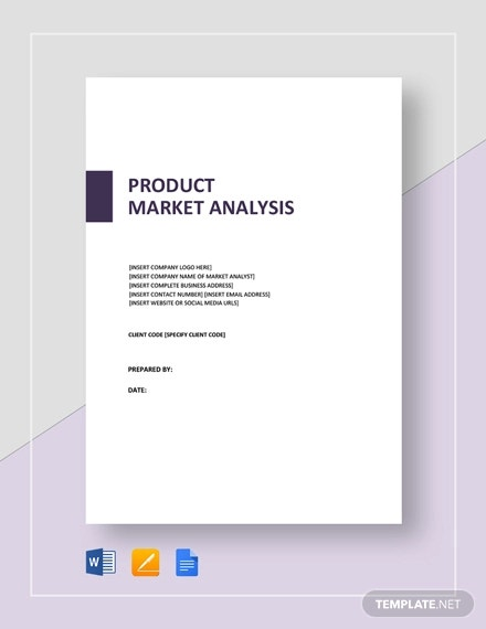product market analysis template1