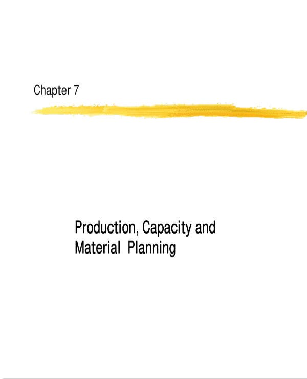production capacity and material plan 01