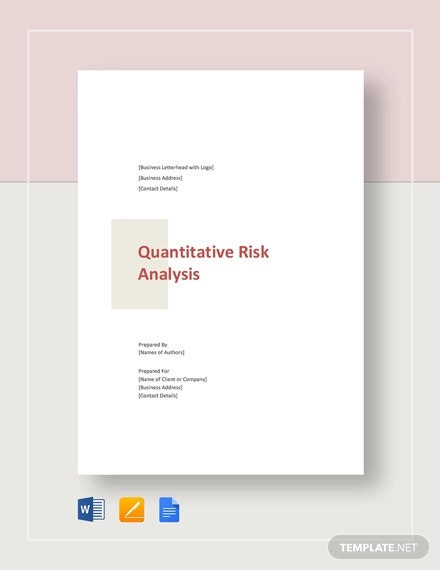 quantitative risk analysis template