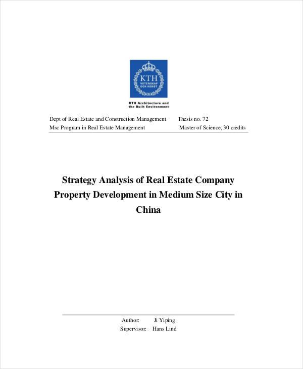 Real Estate Development Marketing Plan Analysis