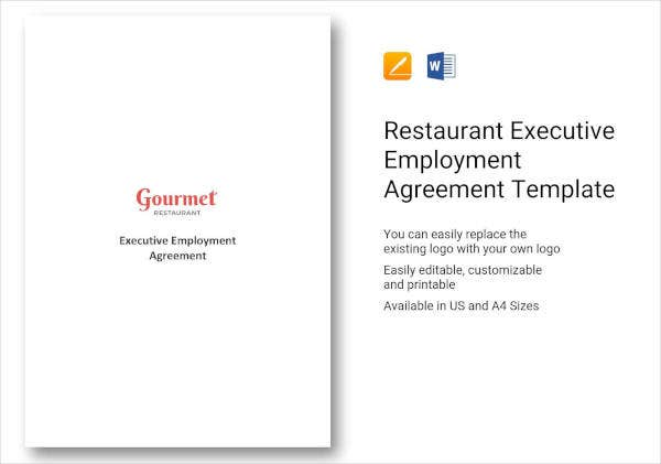 Restaurant Executive Employment Agreement Template