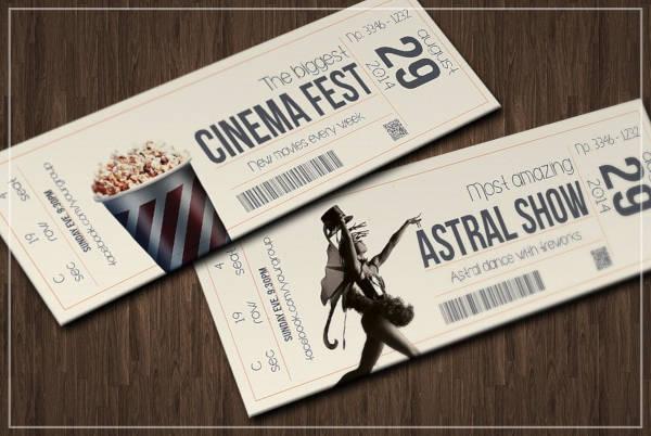 retro event ticket design