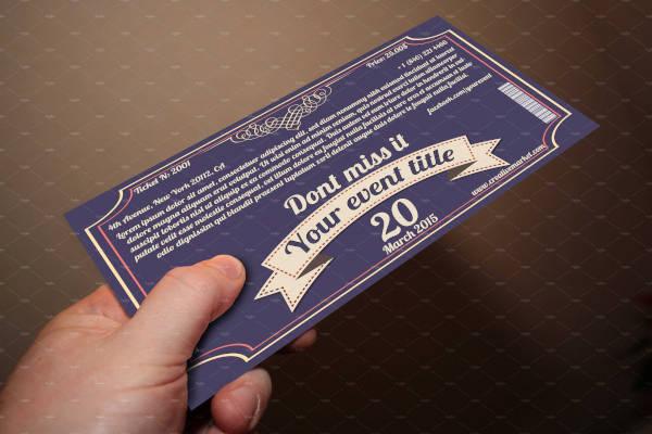 retro style ticket example