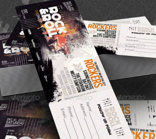 rock festival music concert ticket template