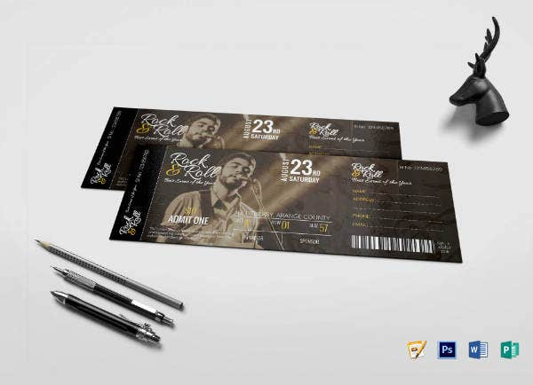 rock musical concert ticket template