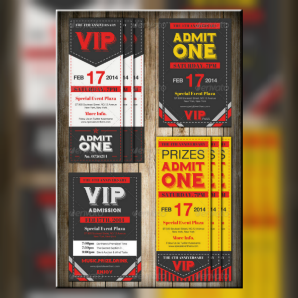 Rustic VIP Event Ticket Template