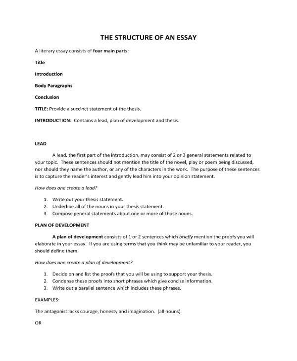 structure of an essay 1