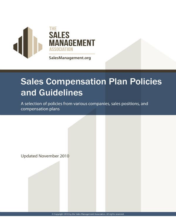 sales commission policies and guidelines 1