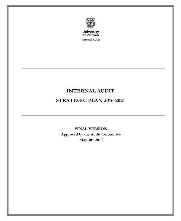 Sample Audit Strategic Plan