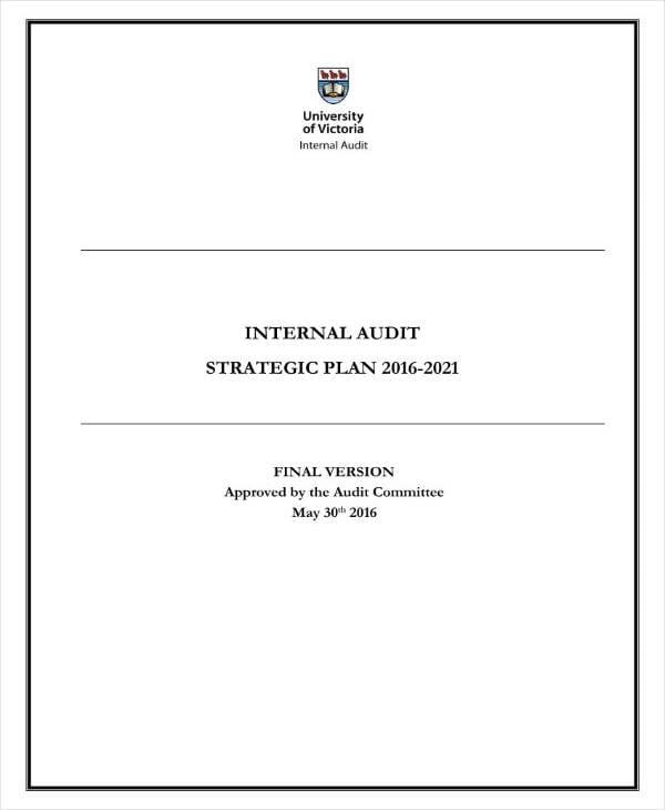 sample audit strategic plan