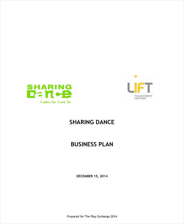 sample elegant dance studio business plan