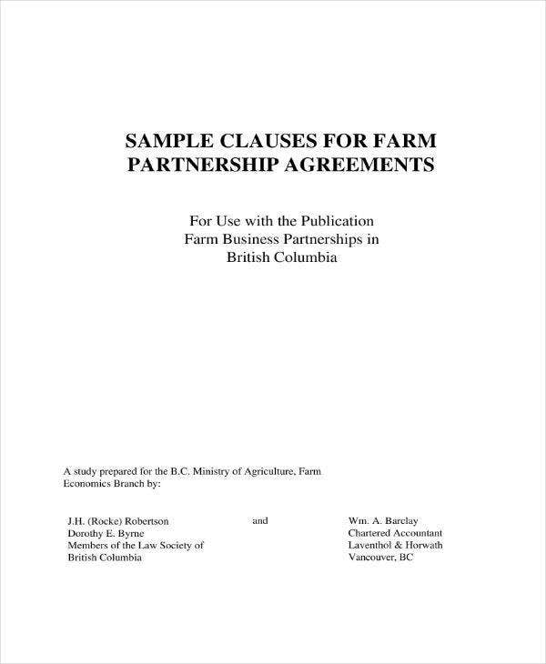 5 Real Estate Partnership Agreement Templates Pdf Word Apple