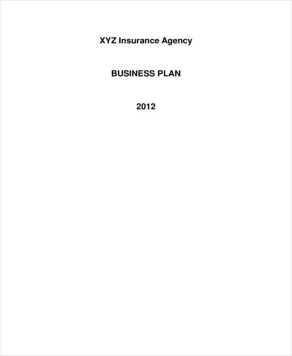 sample insurance business plan