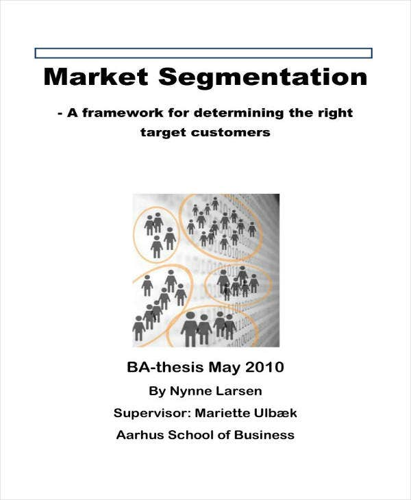 Sample Market Segmentation Analysis