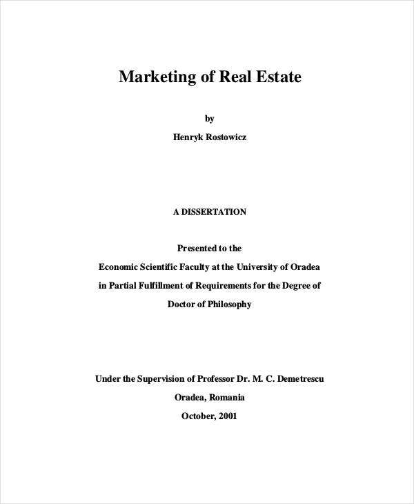 sample real estate development marketing plan
