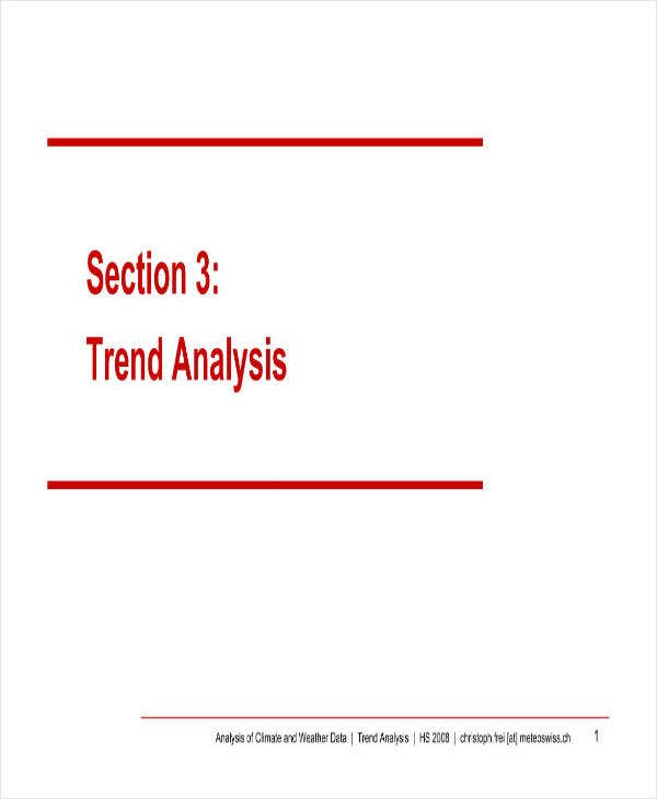 Sample Trend Analysis Example