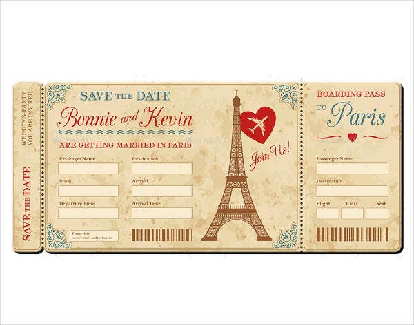 sample wedding invitation ticket template