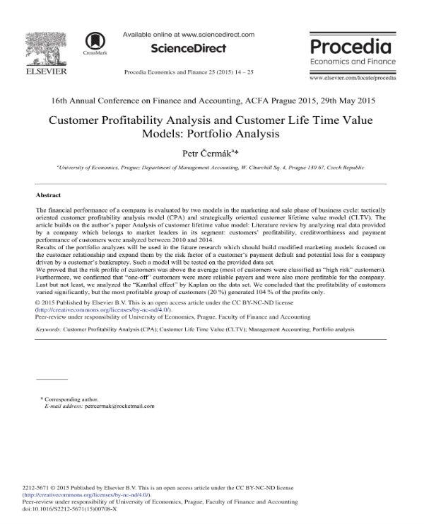 simple customer profitability analysis 1