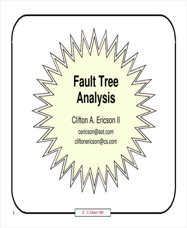 simple fault tree analysis