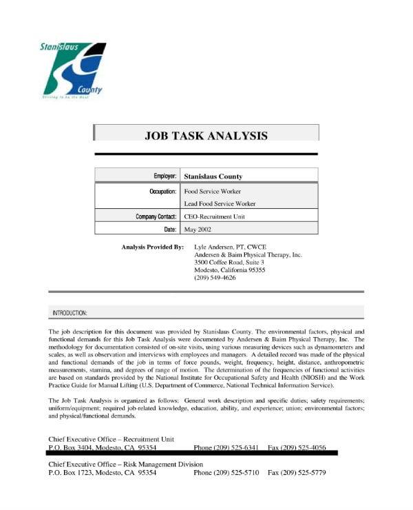 simple job task analysis 01