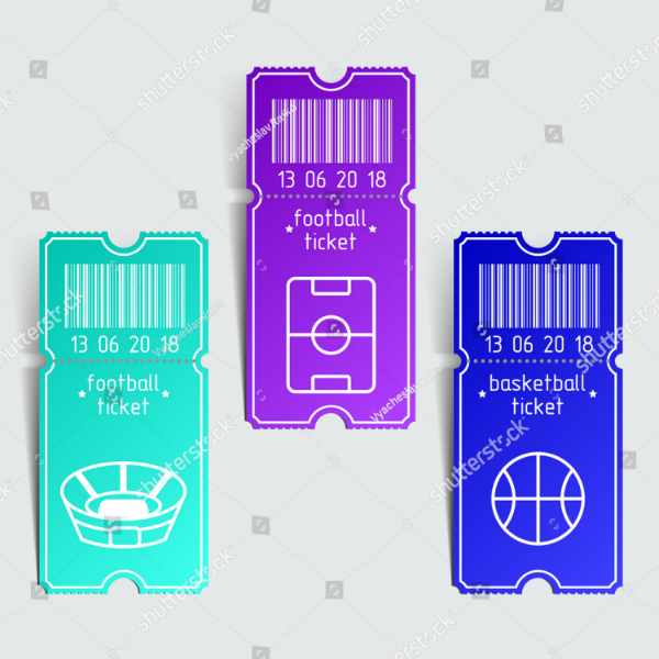 Simple Modern Basketball Ticket Template