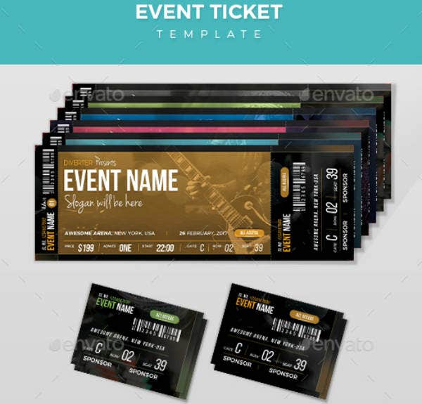 Simple Music Event Ticket Template