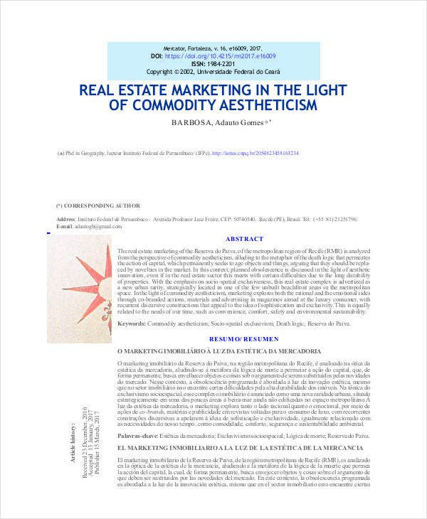 Simple Real Estate Development Marketing Plan