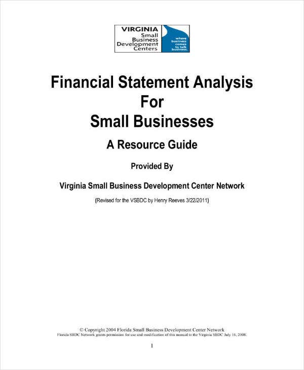 small business financial analysis