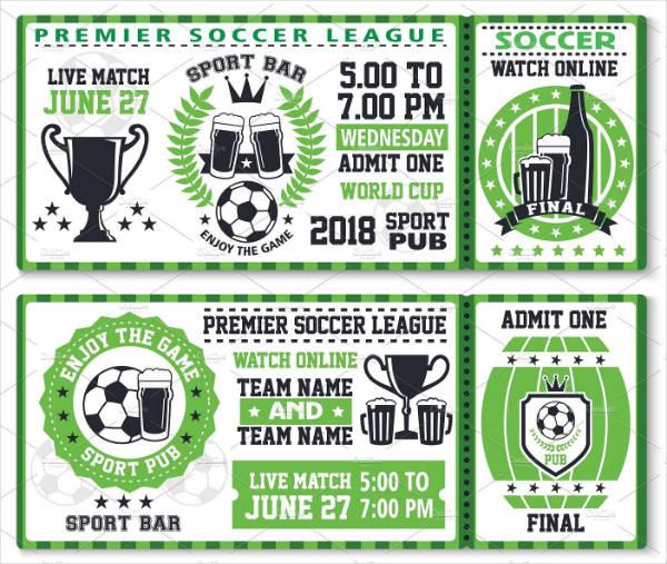 Soccer Sports Ticket Invitation Template