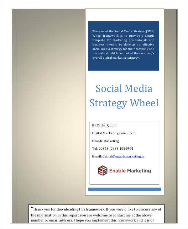 social media business and marketing plan