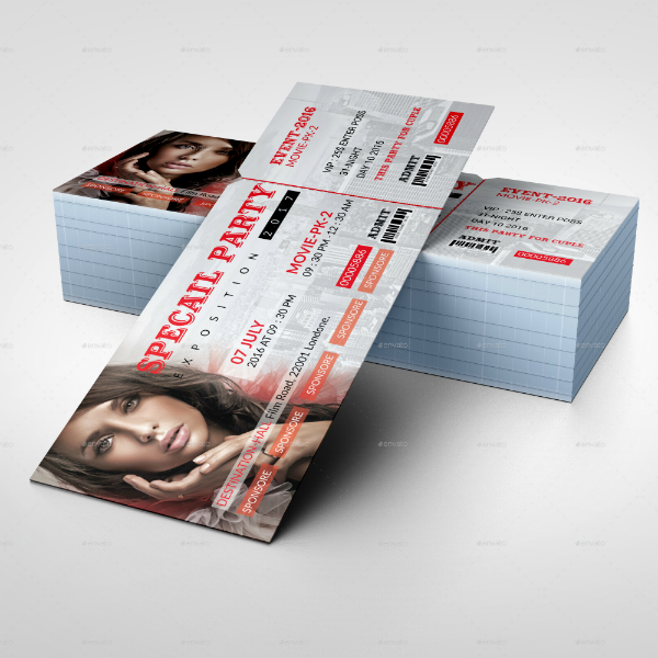 Special Exposition Event Ticket Template