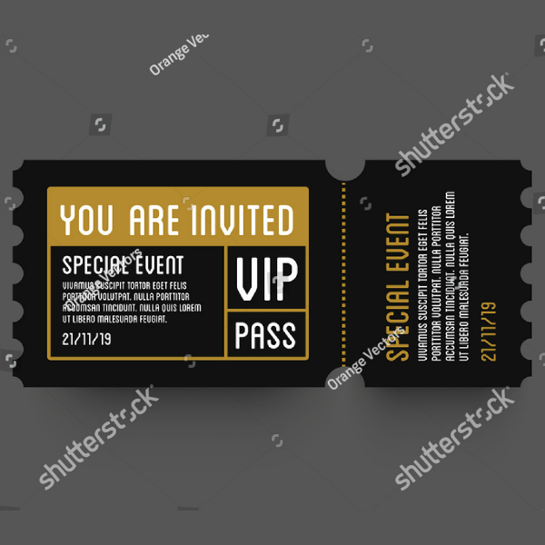 Special VIP Event Ticket Template