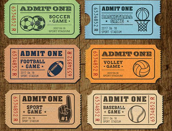 Sports Ticket Invitation Bundle
