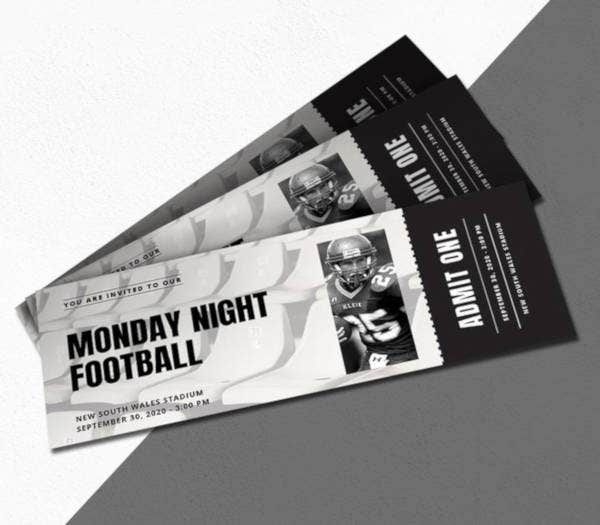 sports ticket invitation sample