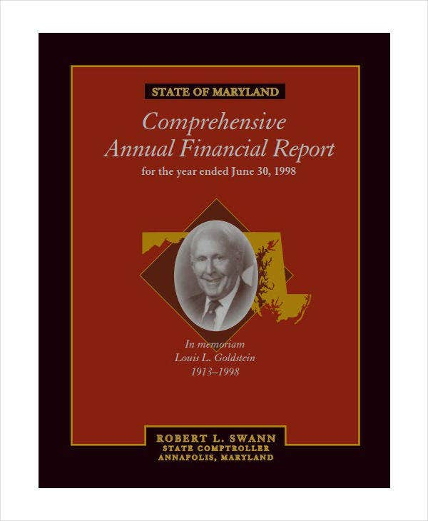 state comprehensive annual financial report