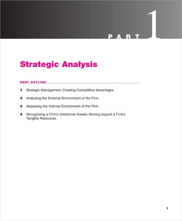 Strategic Analysis Report Example