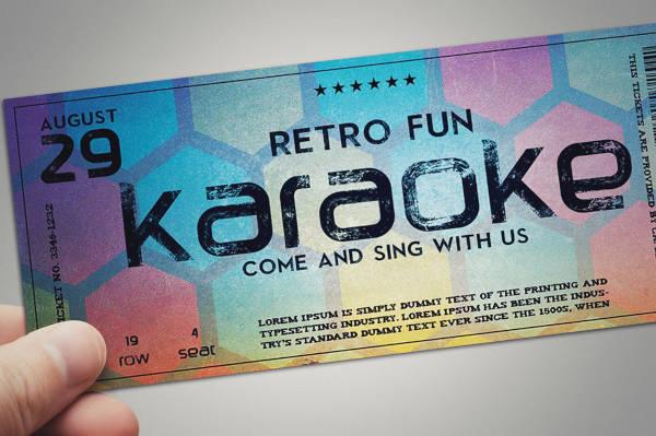 stylish retro event ticket example