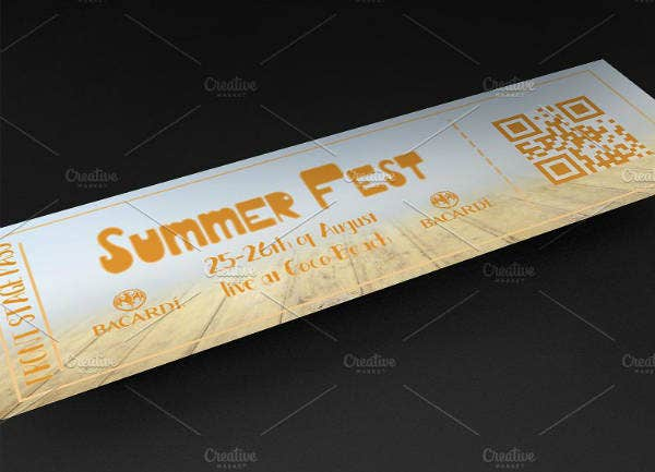 Summer Fest Party Ticket Template