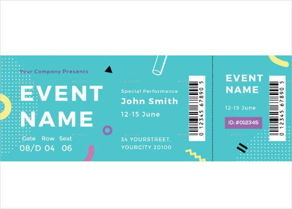 summer party voucher ticket template