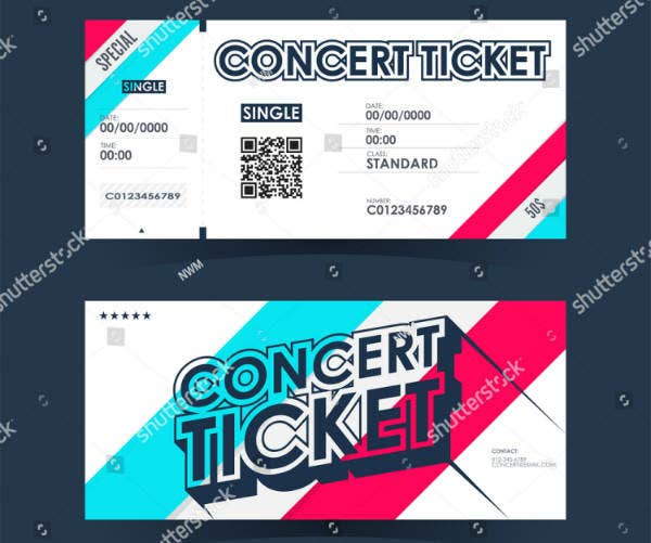 Typographic Concert Ticket Template
