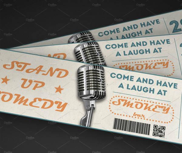 Typographic Multipurpose Event Ticket