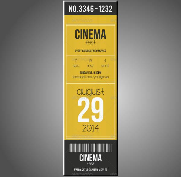 Vertical Multipurpose Event Ticket
