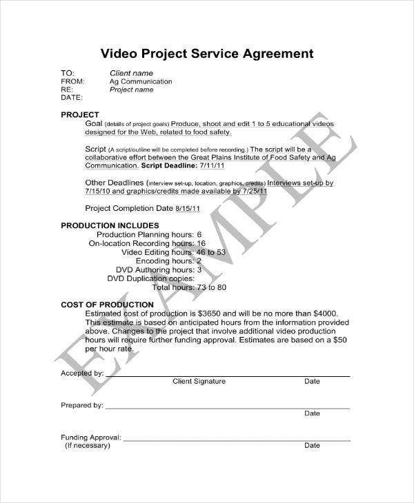 4 Freelance Video Contract Templates Pdf Free Premium Templates