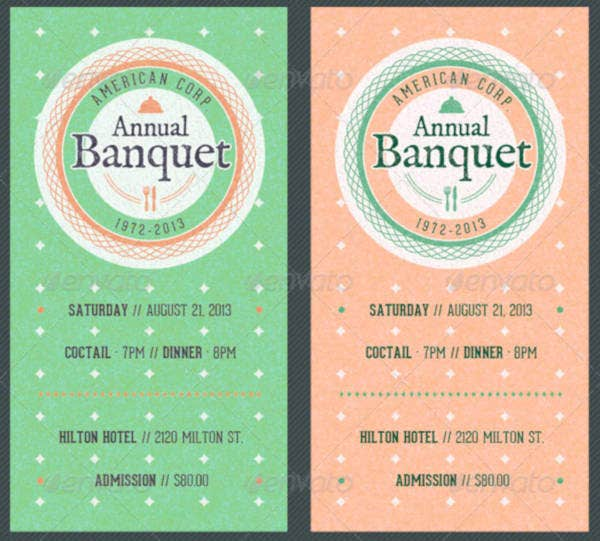 vintage annual banquet ticket
